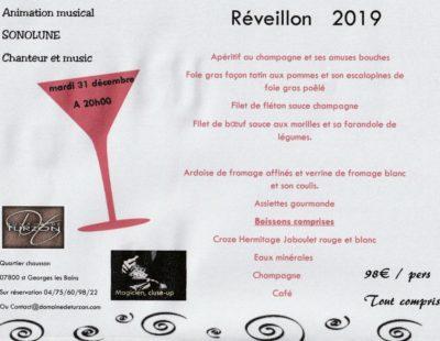 Faire son réveillon 2019 au Domaine de Turzon en Ardèche